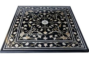 30 Inches Marble Sofa Center Table Top Hand Inlaid Coffee Table with MOP Work