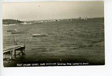 Goat Island Lighthouse Rppc Cape Porpoise—Kennebunkport Boats Photo 1940s