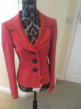 New ladies size 8 tailored cotton viscose blend jacket by Next