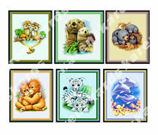 Animals in the Wild Cute Card Making Toppers Craft Embellishments Crafting x 6