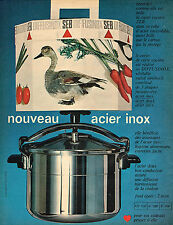 PUBLICITE  1966   SEB  cocotte fusinox