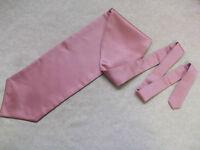 Ascot Cravat MENS Wedding Scrunchie Ruche One Size SILKY ROSE PINK