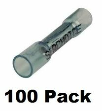 Marine Boat Heat Shrink Butt Connectors 16-14 Ga Gauge Wire 100/Pack BLUE 61161