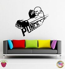 Wall Stickers Vinyl Decal Punch MMA Boxing Martial Arts Fighter  (z1776)