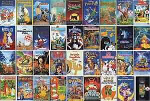 VHS Film-Komödie-Trickfilm-Anime-Manga-Comic-Disney-FSK 0-16-Sammlung-Top Filme