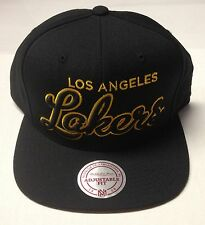NBA Los Angeles Lakers Mitchell and Ness Snapback Wool Cap Hat M&N NZG13 NEW!