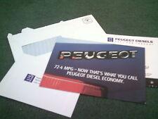 1992 Peugeot 205 Turbo Diesel + DIESEL gamme UK MAIL Out brochure 309 405 605