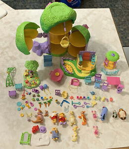 Lot Pooh's Friendly Places Used Delightful Days Tree House & Accessories Mix Lot