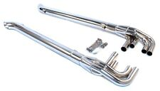 PATRIOT EXHAUST 63 in Long Lake Pipe 4 Chrome Exhaust Side Pipes 2 pc P/N H1165