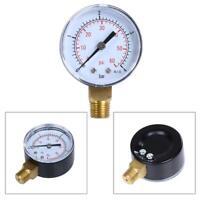 """Manometer 1/4"""" Zoll Anschluss unten axial 0-4 bar 0-60 PSI für Wasser Öl  #SN"""