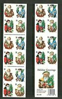 Sc # 3537b-3540b (3540g) ~ Booklet ~ 34 cent Holiday Santas Issue (df25)