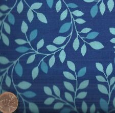 Calypso blue leaves Red Rooster fabric