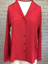 Thomas Pink Red 100% Silk Shirt Size 10