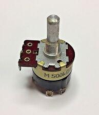 240002 500K-B  DPST switch 25mm potentiometer 6x13mm round shaft solder lugs