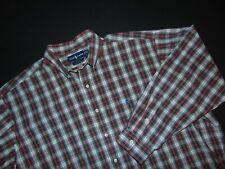 RALPH LAUREN Men's Button Front Shirt ~ 2XL ~ XXL ~ Blake ~ Red Plaid