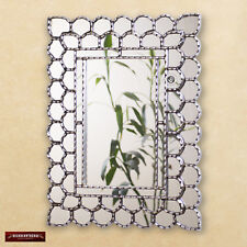 "Silver Rectangle wall Mirror decorative 23.6x17.7""- Peruvian Mirrors for wall"