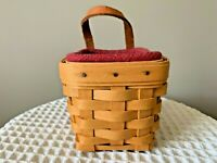 Longaberger Small Basket w/Liner, Protector, Leather Handle …