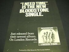 Bloodstone says I Need Time soul group 1974 Promo Poster Ad mint condition