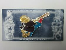 San Diego Padres Mlb 2001 Puzzle Pin #6 Friar Swinging Bat Coca-Cola Sponsored
