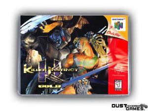 Killer Instinct Gold N64 Nintendo 64 Game Case Box Cover Brand New Pro Quality!!