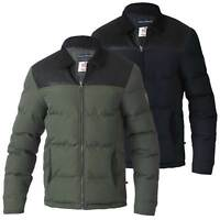 D555 BY DUKE MENS PADDED JACKET WITH PU SHOULDER AND BORG COLLAR S-XXL (133576)