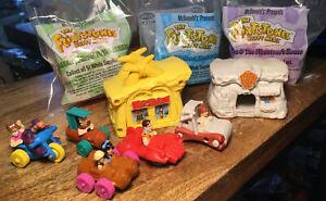 Vintage McDonalds 1993 Flinstones Happy Meal Toys Some Bags Complete Set of 10