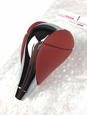 Lexus ISF Red Shift Knob IS250 IS350 RX350 RX450 h Orange Leather & Chrome OEM