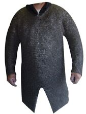 Round Riveted Chain mail shirt 9 mm Large Size Full sleeve Hauberk Armour