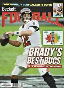 APRIL 2021 BECKETT FOOTBALL PRICE GUIDE TOM BRADY ON COVER SHIPS FREE IN A BOX