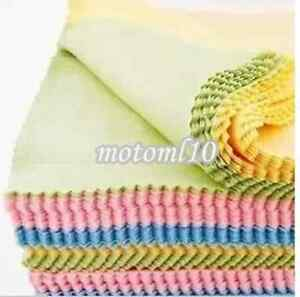 10x Microfiber Cleaner Camera Lens Glasses Cleaning Cloths Duster Polisher Dust#