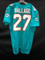 """#27 MIAMI DOLPHINS KALEN BALLAGE NIKE TEAM ISSUED AQUA """" SAMPLE """" JERSEY SLEEVES"""