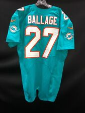"#27 MIAMI DOLPHINS KALEN BALLAGE NIKE TEAM ISSUED AQUA "" SAMPLE "" JERSEY SLEEVES"