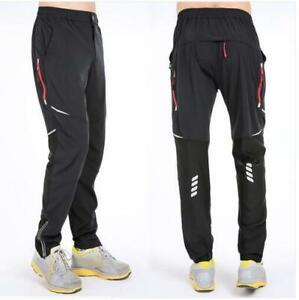 New Men Women Quick-Drying Sports Bike Cycling Pants Reflective Trousers S-4XL