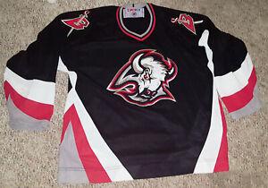 Buffalo Sabres Authentic CCM Hockey Jersey/Shirt Large/L Goat Head Vintage NHL B