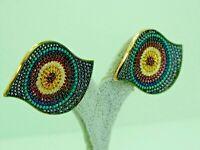Turkish Handmade Jewelry 925 Sterling Silver Multi Stone Women Earrings