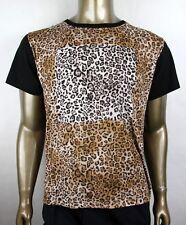 Neu Saint Laurent Herren Leopardenmuster Rundhals T-shirt M 440623 1165
