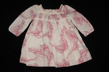 EUC Baby GAP Girls FLIGHT Ivory & Pink Butterfly Dress 3-6 M