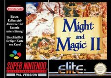 SNES-Might and Magic II: Gates to Another World with Original Box VGC