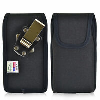 Kyocera DuraForce PRO Holster Metal Clip Case Pouch Nylon Vertical Turtleback