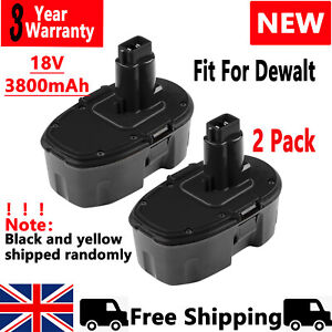 2× 3.8Ah DE9098 Battery For Dewalt Cordless Drill 18V XRP DC9096 DE9095 DC725