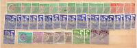 45 timbres  preoblitérés par multiples