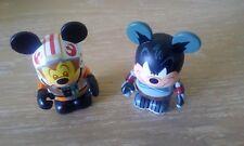2 figurines VINYLMATION DISNEY STAR WARS MICKEY XWING MK3 BOB FETT
