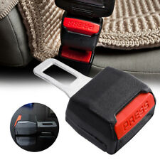 2x CAR SEAT BELT CLIP EXTENDER SUPPORT BUCKLE SAFETY ALARM STOPPER CANCELLER UK