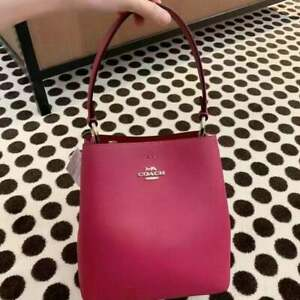 NWT Coach small town bucket bag pebble leather
