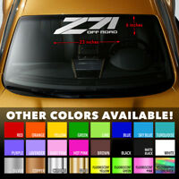 Z71 OFF ROAD Windshield Banner Vinyl Decal Sticker for CHEVY CHEVROLET SILVERADO