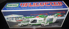 Hess 2001 Toy Truck Helicopter with Motorcycle and Cruiser NEW