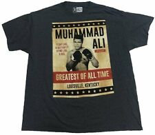 Muhammad Ali Greatest of All Time Mens T-Shirt (Grey)