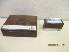 Vintage KW Karl Wieden Viking Ship Wood Desk Tabletop Cigarette Box & Lighter
