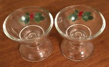 Avon cut glass candle holder pair of 2 Tapers & Votives Vintage dual purpose