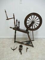 Antique Primitive Spinning Wheel Treadle Wheel